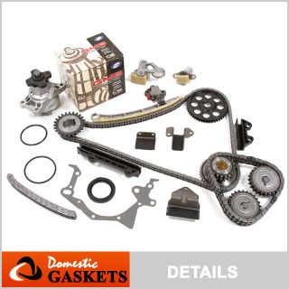 Liter V6 Suzuki Chevy Timing Chain Kit GMB Water Pump H25A H27A