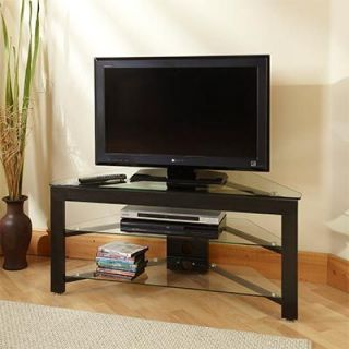 Corner Entertainment Media Center TV Stand Furniture Storage Wood
