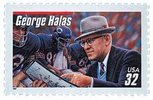 Legendary Football Coach George Halas Scott 3150 Mint F VF NH