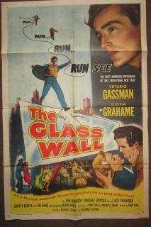 The Glass Wall USA Orig 27x41 1953 Gloria Grahame