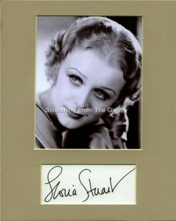 Gloria Stuart Hand Signed Matted Display Autographed Titanic