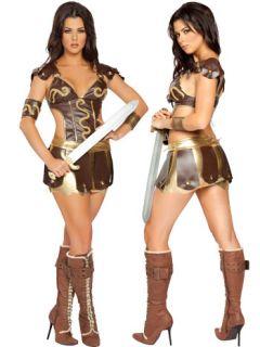 sexy fantasy warrior girl gladiator costume two piece costume includes