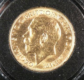 1913 George V FULL Sovereign 2354 Troy Ounce GOLD Great Coin