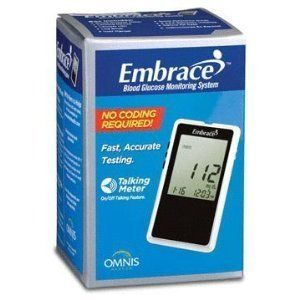 Embrace Blood Glucose Monitoring System Talking Meter No Coding