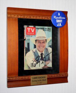 Larry Hagman Signed Autograph COA UACC Button J R Ewing Beer Dallas