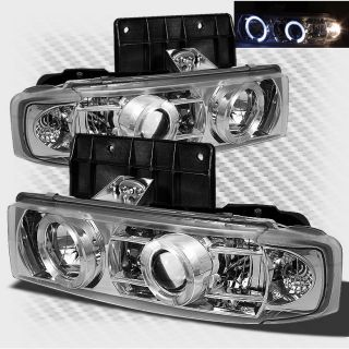 95 05 Chevy Astro Van GMC Safari Van Twin Halo Projector Headlights
