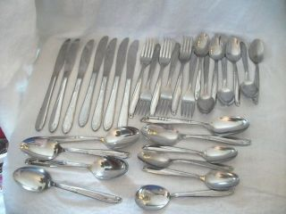 Simeon George Rogers Oneida Stainless Flatware Paramount 31pc