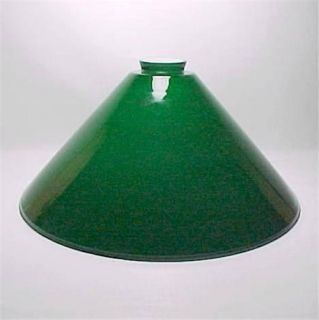 14 Pendant Lamp Shade Blue Green Cased Glass Pool Table New