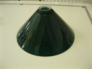 Antique 12 Pendant Green Glass Lamp Shade 2 1 4 Fitter