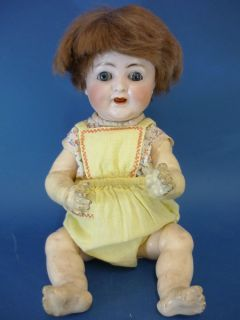15 Alt Beck & Gottschalk 1352 Character Baby Bisque Head Doll German