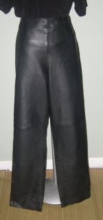 Margaret Godfrey Soft Black Leather Pants Excellent Condition Size 10