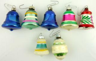 Lot of 12 Multi Color Vintage Shiny Brite Decorative Christmas Tree