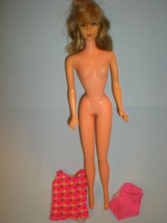 1968 Twist N Turn Brassy Brunette Barbie Doll 1160 with Original Swim