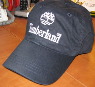 Timberland Black White Slouch Mens Baseball Cap Hat New
