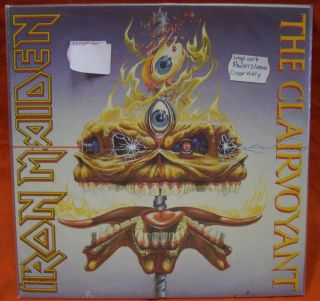 Iron Maiden Music Record 45 RPM Disc Heavy Metal Poster Sleeve Clear