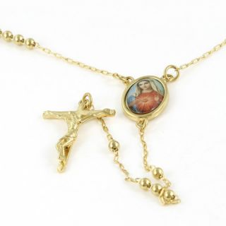 18K Yellow Gold Filled Cross Pendant Chain Necklace 28