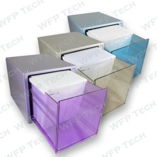 80 Disc CD DVD Box Storage Case w Lock Gliding Door
