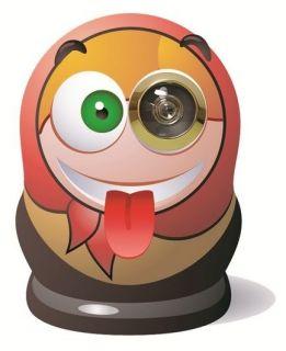 Pimp Your Door Eye Peep Spy Hole Decorative Sticker Novelty Gift