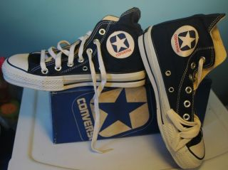 Vintage CX Pro 250 Boys Hi Top Canvas Converse Shoes Size New In
