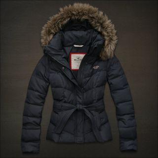 Hollister by Abercrombie Women Grandview Jacket Fur Trim Hood Size XS