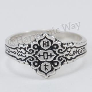Healers Ring Sterling Silver Magical Symbols Healing Pagan Wisdom