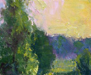 Art Oil Painting Landscape Morning Goldenrod 12x16 T Nelson
