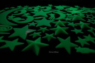 85 Piece Glow in The Dark Stars and Shapes