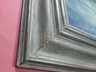 Vintage J Germano Oil on Canvas Winter Scene Signed Framed Painting