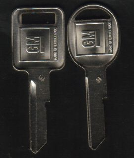 Buick 1969 1973 1977 1981 GM Key Blanks