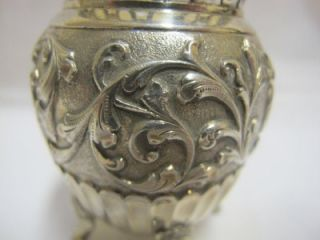 ANTIQUE SOLID SILVER VASE / HOLDER GERRIT REGTDOORZEE GREUP C 1900
