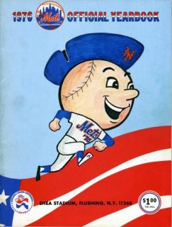 1976 New York Mets Yearbook w/Team Poster & 1975 All Star Game