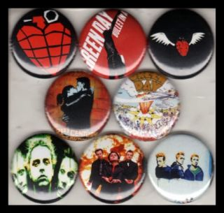 Green Day 1in Buttons Badge American Idiot 21st Century