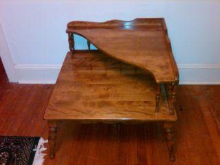 Ethan Allen Maple Corner Table
