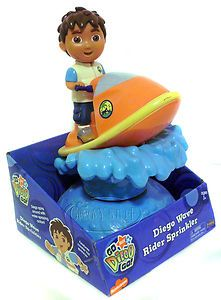 Nick Jr Go Diego Go Jet Ski Wave Rider Water Sprinkler Toy New