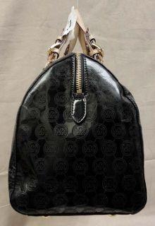 Michael Kors Grayson LG Mocha Patent Leather Satchel Bag MSRP$348 00