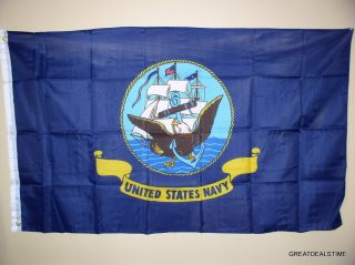 USN United States Navy SHIP Large Sailor Flag New