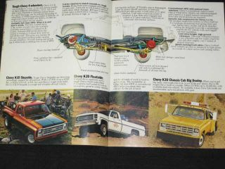 1979 Chevrolet Pickup Trucks Catalog Sales Brochure