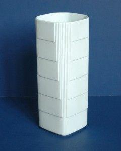 Rosenthal White Matte Signed Vase Turnus Studio Linie