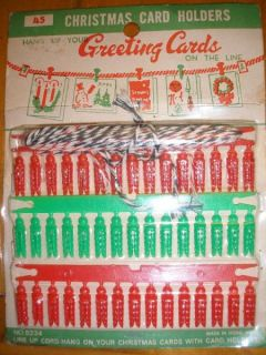 Vintage Christmas Greeting Card Holder Hold 45 Cards New in Package