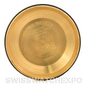 Rolex Date 1503 Mens 14k Yellow Gold Diamond Watch