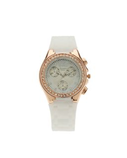 Figaro Milano Women Rose Gold LRS05639 White Band Watch
