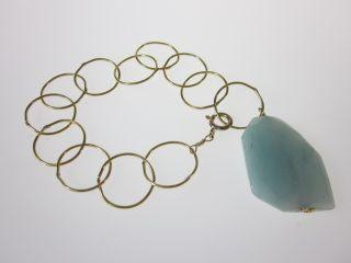 New NUGAARD Designs Gold Blue Quartz Chain Bracelet