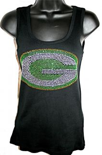 Green Bay Packers Bling Womens Tank Top Allcolors Sizes
