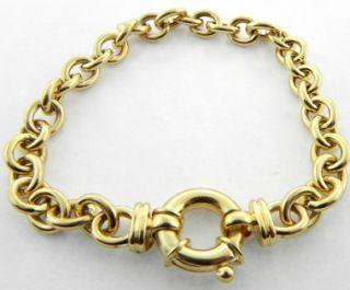 Ladies 14k Yellow Gold Charm Bracelet