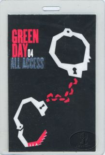 Green Day 2004 American Idiot Laminated Backstage Pass