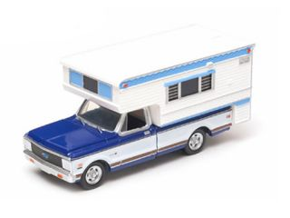1972 CHEVROLET C20 CHEYENNE W/ CAMPER (HOBBY EXCLUSIVE) 1/64 BY