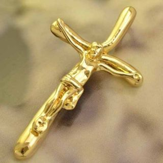 Genuine 9K Gold Filled Mens Cross Pendant P180