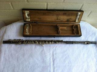Greville Flute circa 1930s Paris France French wood wooden box vintage