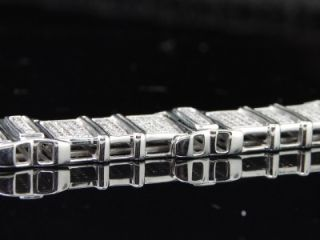 Mens White Gold Diamond Bracelet 2 3 Ct Pave Big Look