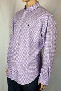 Ralph Lauren Purple White Classic Oxford Dress Shirt 17 5 36 37